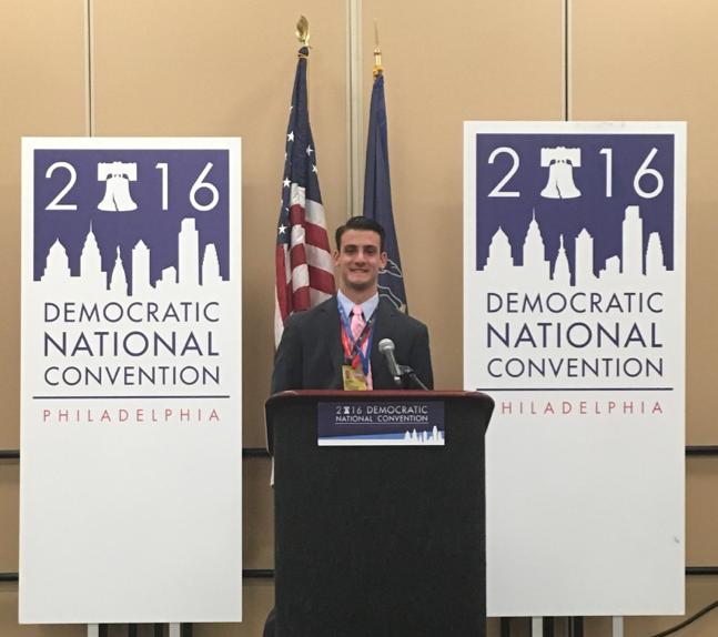 DNC-Powell at podium