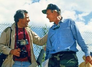 (Right) David Valdez and President Bush