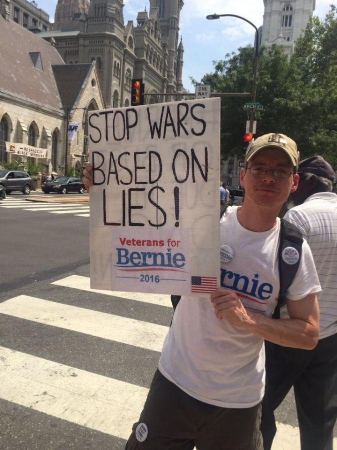 Bernie protester